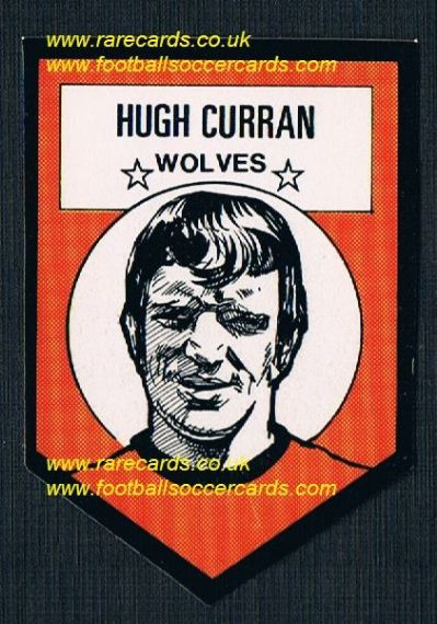 1972 BAB unused Shooting Stars Wolves Curran with original backing paper
